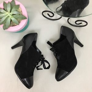 Tahari NWOB Cap Toe Travis Leather Ankle Booties